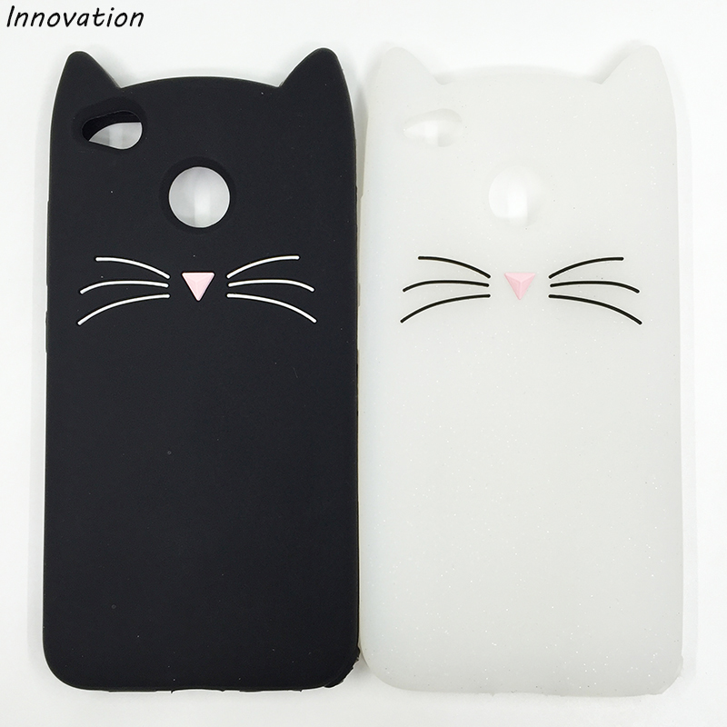 For Huawei Honor 4A 4C 4X 5C 5X 6X 7X 8 Lite V8 9 V9 V10 Case 3D Cute Lovely Beard Cat Silicone Cover For Huawei P8 P9 P10 Plus