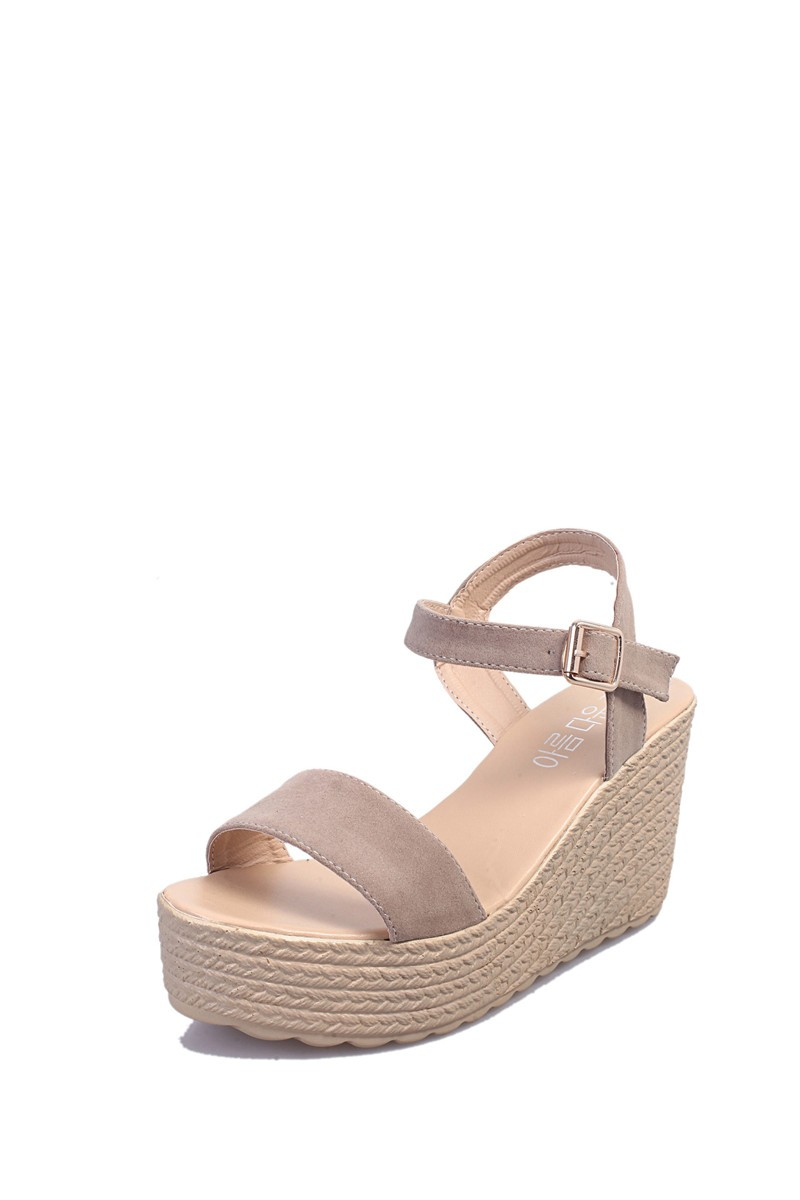 2016 new summer women wedges sandals Thick Soled Shoes Solid 4 colors open toe Women Ladies Sandals HSD06 (8)