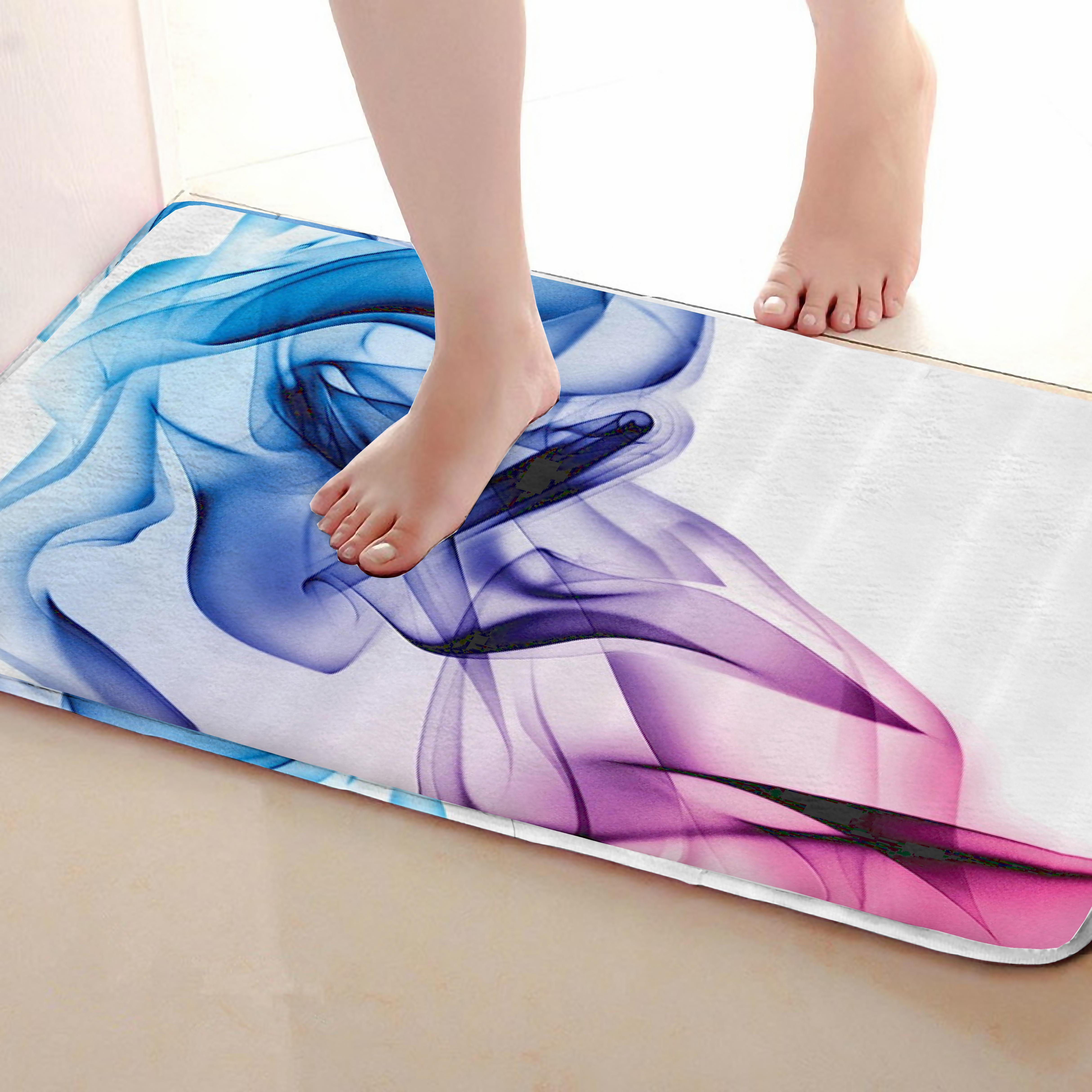 Abstract Style Bathroom Mat,Funny Anti skid Bath Mat,Shower Curtains Accessories,Matching Your Shower Curtain