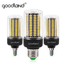 Goodland e27 lâmpada led e14 220v 110v, 3.5w 5w 7w 9w 12w 15w 20w lâmpadas milho smd 5736 sem luz cintilante
