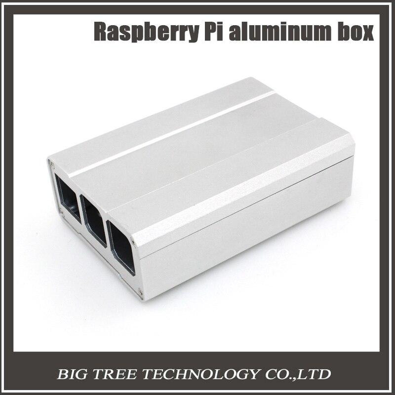 Подробнее о Raspberry Pi Aluminum Enclosure Case Cover Silver Metal Box for Raspberry Pi 2 model B/Raspberry Pi 3 model B RP0008 original black abs plastic case box enclosure for raspberry pi 3 model b screws