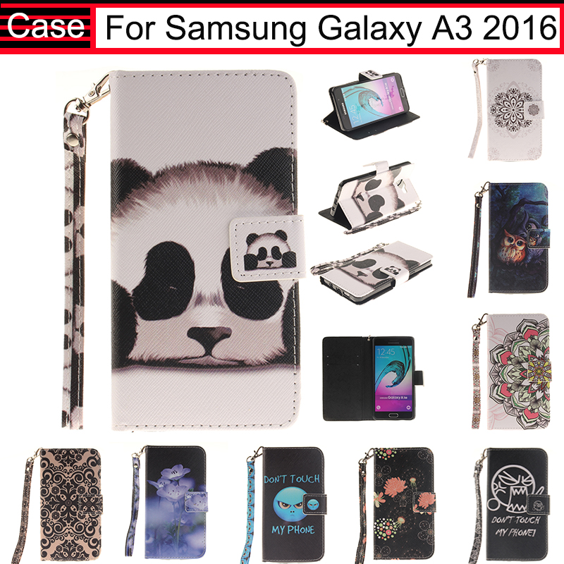 JURCHEN Case For Samsung Galaxy A3 2016 A310 A310F A310H A310M Cover Leather Flip Wallet For Samsung A3 2016 Case Silicone 40