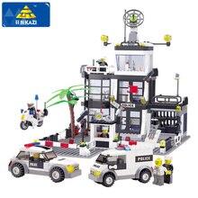 KAZI Karakolu Yapı Taşları Araba Styling Yapı Taşları 631 + adet 3D Modeli Blokları Brinquedos Playmobil Oyuncaklar Çocuklar Için