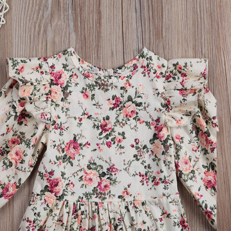 Flower Infant Toddler Baby Girl Romper Vintage Long Sleeve Neborn Girl Romper Jumpsuit Spring Autumn Baby Flower Infant Toddler Baby Girl Romper Vintage Long Sleeve Neborn Girl Romper Jumpsuit Spring Autumn Baby Girl Clothing D15