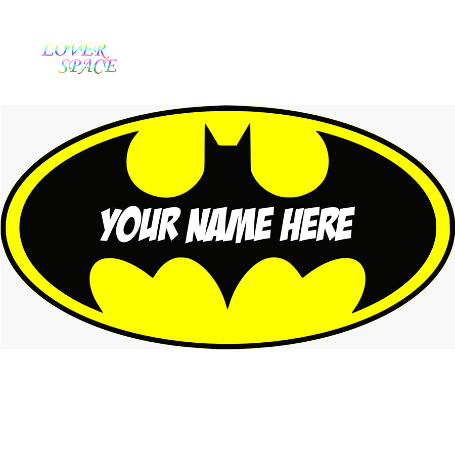 Personalised batman logo decal removable wall sticker home decor personalised batman logo decal removable wall sticker home decor art your name wall decals huge size 500mmx30mm multi color in wall stickers from home buycottarizona