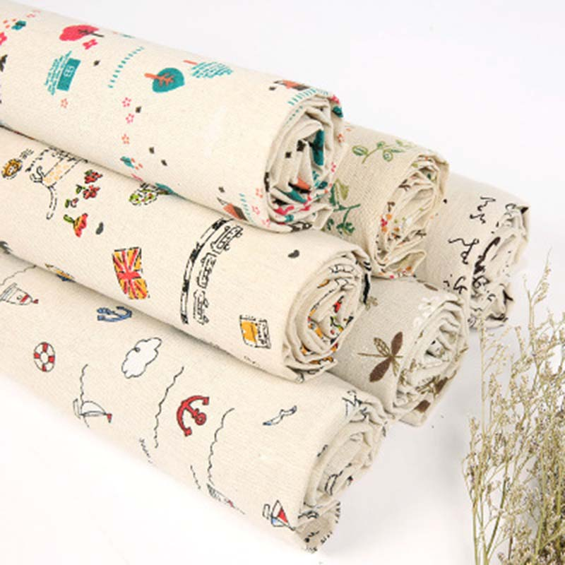 Patchwork printed Cartoon cat Cotton Polyester fabric for Tissue Kids Bedding home textile for Sewing 150cmx100cm