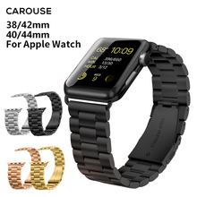 Carouse Sport Strap for Apple Watch Band Series 3/2/1 38mm 42mm Stainless Steel Metal Watchband For iwatch series 4 40mm 44mm цена
