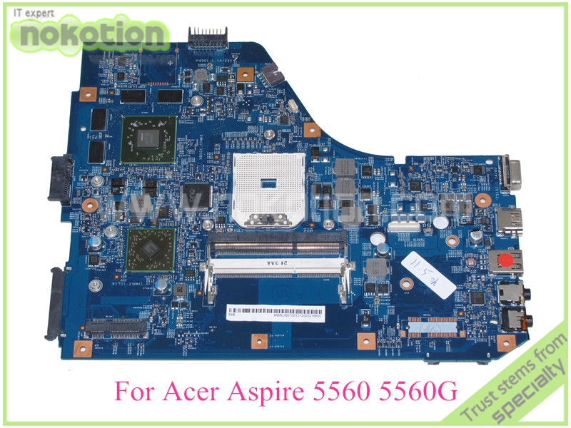 NOKOTION MBRUS01001 48.4M702.01M laptop Motherboard for acer aspire 5560G series system board HD 6520G 521mb graphics laptop motherboard mbrnx01001 mb rnx01 001 for 5560 5560g je50 sb mb 10338 1 48 4m702 011