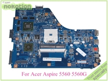 NOKOTION MBRUS01001 48.4M702.01M laptop Motherboard for acer aspire 5560G series system board HD 6520G 521mb graphics