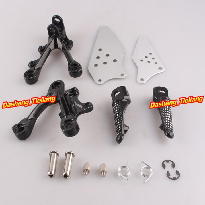 Aluminum Alloy Passenger Rear Foot Pegs Footrest Brackets for KAWASAKI NINJA ZX6R 09 11 font b