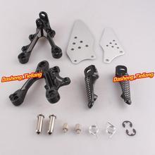 Aleación de aluminio Trasero de Pasajeros Estriberas Reposapiés Soportes para KAWASAKI NINJA ZX6R 09-11, motocicleta piezas de Repuesto Accesorios