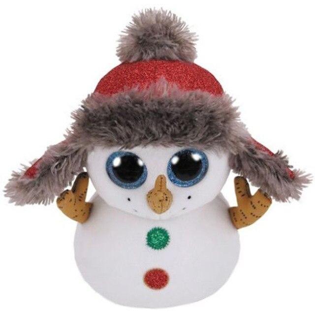 Ty Beanie Boos 15CM Snowman Lion Unicorn Cat Bat Plush Beanie Baby Plush  Stuffed Doll Toy Collectible Soft Toys Big Eyes c39b06f6004
