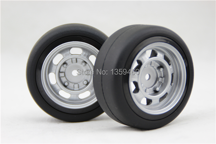 Fits For 1:10 Drift Car Inventive New Design 4pcs Rc1/10 High Speed Drift Tires Tyre Wheel Rim Classic2 6mm Offset painting Silver