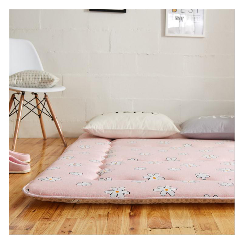 Summer Washing cotton Bed Mattress Polyester Fiber Various Colours thin washable Comfortable bed protection mattress