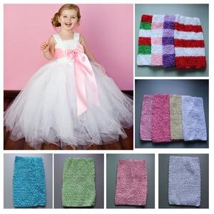 Image 1 - Tutú de 9 pulgadas para niña, Top de tubo de ganchillo, diadema elástica de colores, 34 colores, envío gratis, 45 unidades/lote