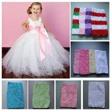 Wholesale 9 Inch Tutu Crochet Tube Top kids Stretch Colored Tutu Headband 34colors U pick up Free Shipping 45pcs/lot