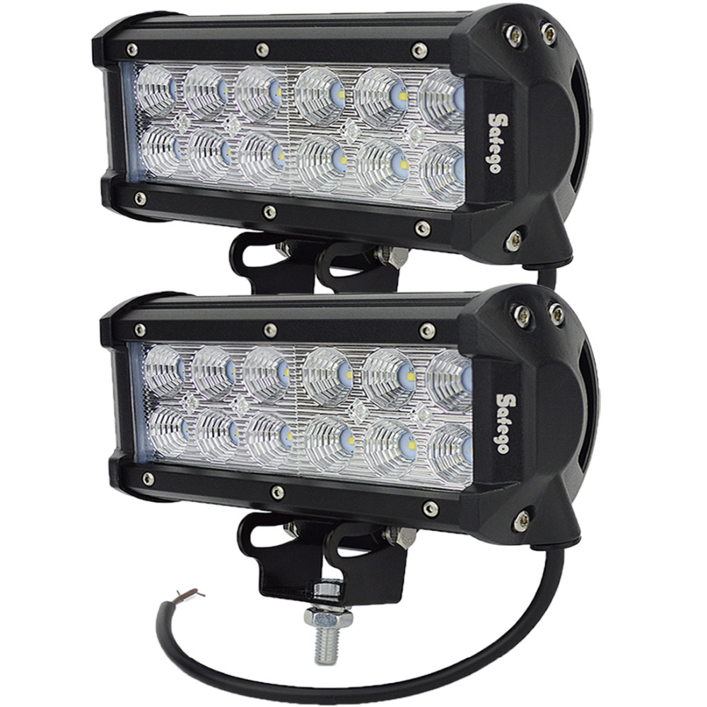 2 pcs 36 W LED CAHAYA Kerja BAR UNTUK PERAHU SUV OFF ROAD ATV 4x4 - Lampu mobil - Foto 3