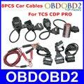 TCS CDP Cabos PRO Carro profissional de Diagnóstico OBD OBD2 Interface de Conector para Multimarcas Carros Conjunto Completo 8 PCS 3 Anos de Garantia