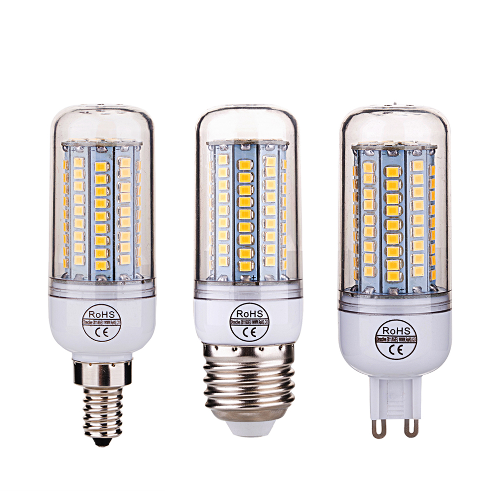 LED Corn Bulb Lamp E27 E26 E12 E14 G9 Led Light Bulbs SMD2835 220V for Home Lighting Chandelier Spotlight 27 48 68 102 126 LEDs
