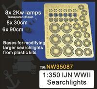 1/350 holofotes ijn da segunda guerra mundial