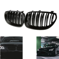 Black Front Kidney Sport Grilles Hood Grill For BMW E60 E61 2003 2004 2005 2006 2007 2008 2009 M5 525i 528i 528xi 530i