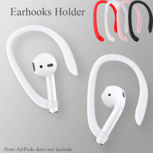 1 Pair Protective Earhooks Holder Secure Fit Hooks For Airpods Apple Wireless Earphones Accessories Silicone Sports Anti-lost
