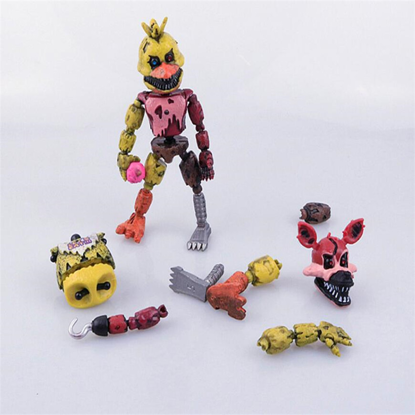 13.5-15 CM Five Night At Freddy Anime Figure Fnaf Bonnie Bear Foxy Pvc Model Action Figure Freddy Toys Children Birthday Gifts