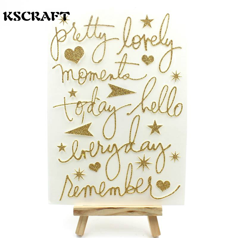 KSCRAFT Pretty Self- adhesive Epoxy Sticker for Scrapbooking/ DIY Crafts/ Card Making Decoration