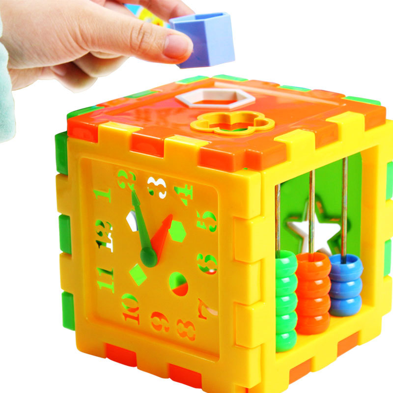 Plastleksaker matchande block Baby Intelligence Educational Sortering Leksaker Box