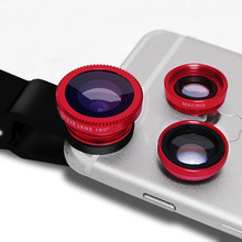For samsung galaxy J1 J2 J3 J5 J7 fisheye macro broad angle three in 1 common clip cell phone digicam lenses