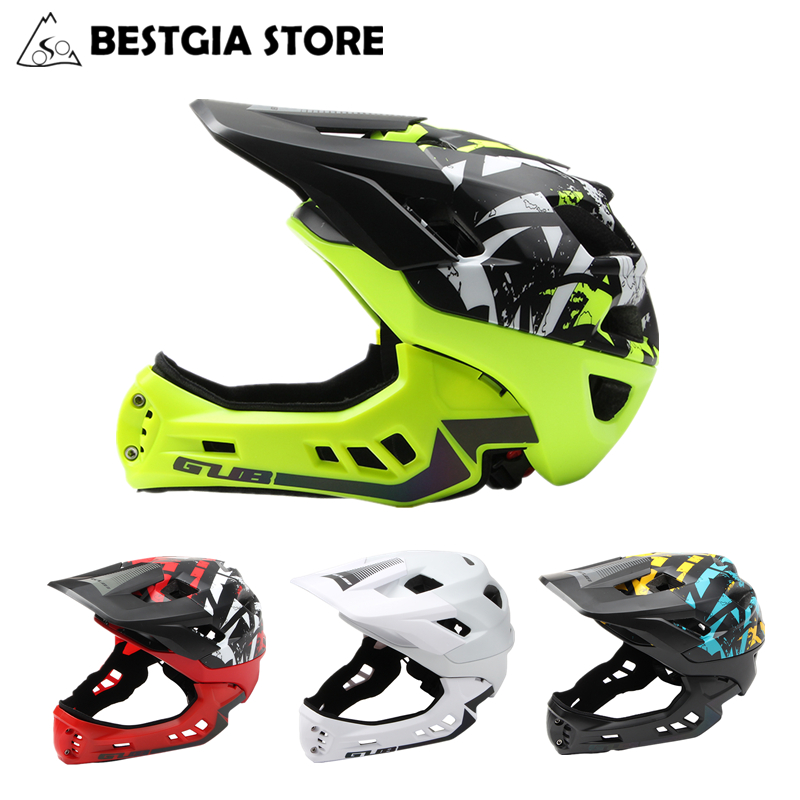 New Off-road Mountain Full Face Bike Helmet Sports Safety Kids Full Covered Helmets DH Helmet Downhill Bicycle Helmet 54-58CM thh helmet t42 kids helmets size xs alltop downhill mountain bike bicycle bmx helmet dh mtb full face ce casco capacetes