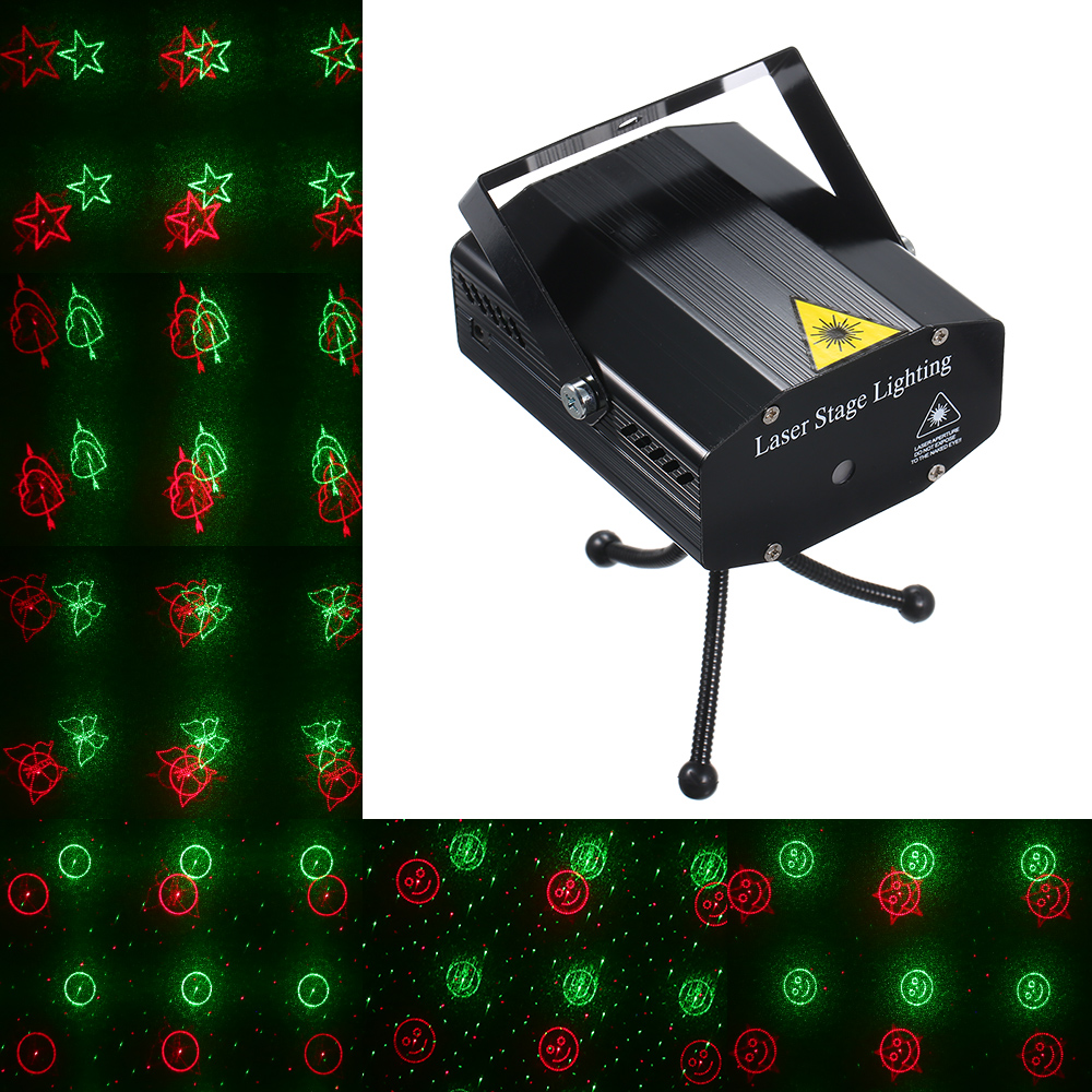 Image 2 - Newest Mini LED disco light Laser Projector Christmas Decorations Laser stage Light Dj sound party lights DJ Show Xmas LightStage Lighting Effect   -