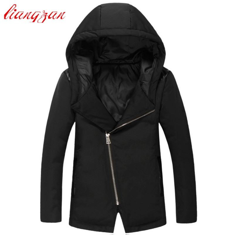Men 90% White Duck Down Coats Brand Design Winter Warm Snow Thick Medium-Long Down Parkas Casual Slim Fit Trench Coats F2350