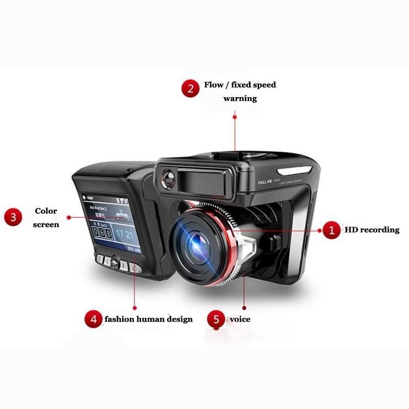 X K ka ku laser G SENSOR Snelheid Richting Tijd 1200W WDR 2.3 Auto DVR Radar Detector 2 in 1 auto detector Camera Full HD 1080P - 4