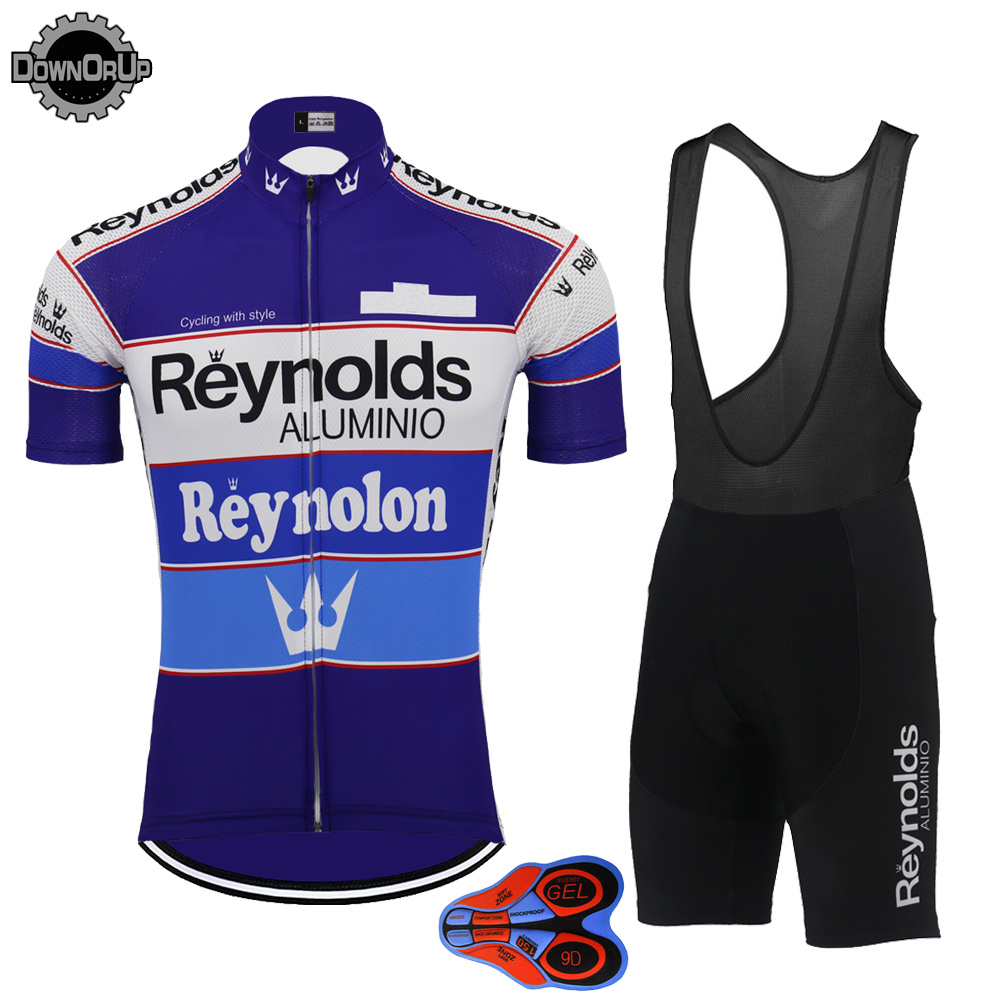Image 3 - Retro short sleeve jersey set pro team bike wear jersey set bib shorts breathable 9D gel Pad  cycling clothing MTB ropa Ciclismo-in Cycling Sets from Sports & Entertainment
