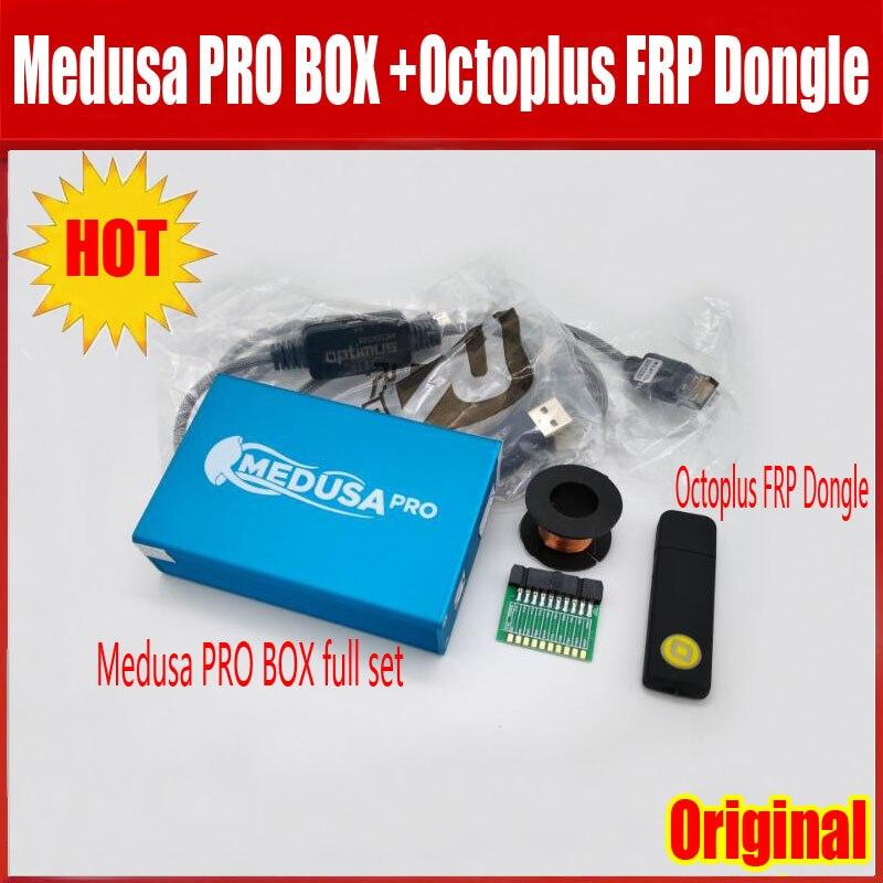 2019 nouveau ORIGINAL Medusa PRO boîte Medusa boîte + Octoplus frp Dongle + JTAG Clip MMC pour LG pour Samsung pour Huawei avec câble Optimus