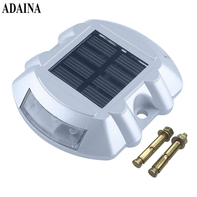 Solar Road Stud Verlichting Aluminium 6 LED Outdoor Road Oprit Dock ...