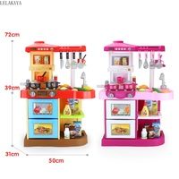 Simulation Pretend Play Cartoon Children Lovely Fashion Role Play Creative Kitchen Toys Set Multifunctional Educational Gift Toy