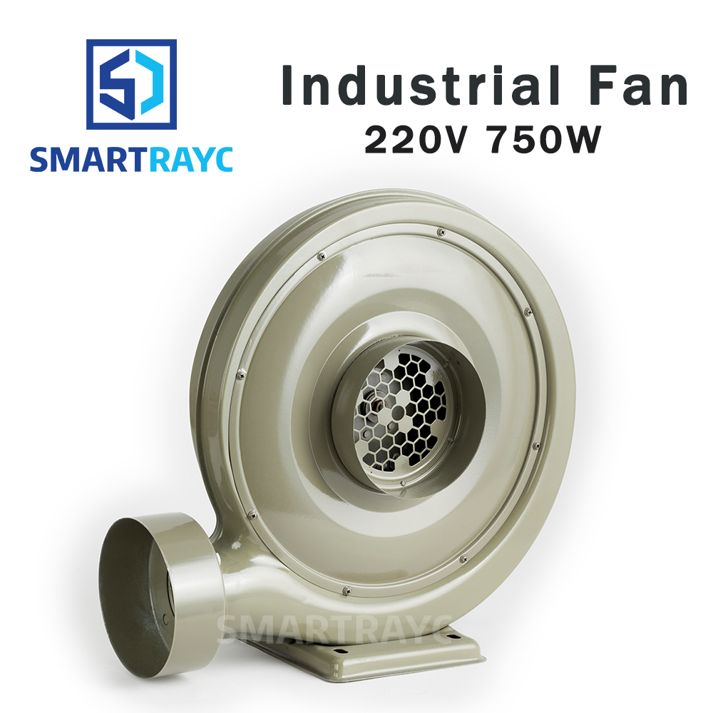 Smartrayc 220V 750W Exhaust Fan Air Blower Centrifugal for CO2 Laser Engraving Cutting Machine Medium Pressure Lower Noise 220v 750w exhaust fan blower exhaust fan suit for all co2 laser machine zurong