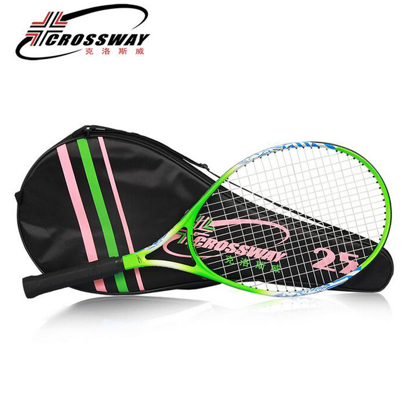 25 inch Tennis Racket Ultra-light tenis masculino Carbon Fiber OS Racket Surface for Children 10-12 years old Tennis Grip Size 4 цена