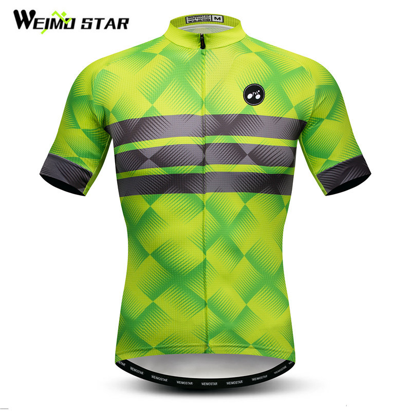 Weimostar Green Cycling Jersey 2018 pro team Men Mountain Bike Clothing Quick Dry Cycling Wear Summer mtb Bicycle Jersey Shirt summer sports cycling clothes men s cycling jersey sets breathable quick dry mountain bike sports wear for spring women new