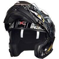 New Brand GXT Double Lens Motorcycle Helmet Motorbike Flip Up Helmet Racing Full Face Helmet Moto
