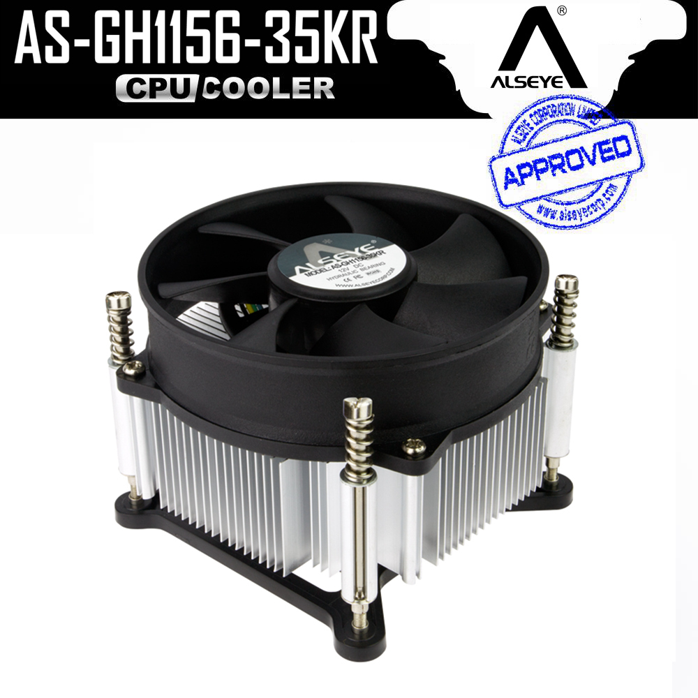 ALSEYE LGA 1155 Processor Cooler TDP 95W CPU Heatsink Cooler with 90mm 4pin PWM Fan 900-2400RPM for i3/i5/i7 LGA 1150/1151/1156 computer cooler radiator with heatsink heatpipe cooling fan for hd6970 hd6950 grahics card vga cooler