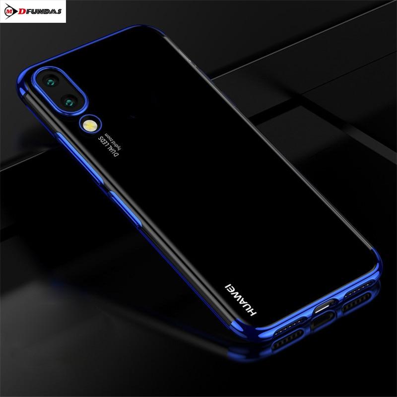 Chapeamento de Sacos de Telefone Para Casos Huawei Coque P20 Pro Caso Shell Transparente Para Huawei P 20 Pro Cover