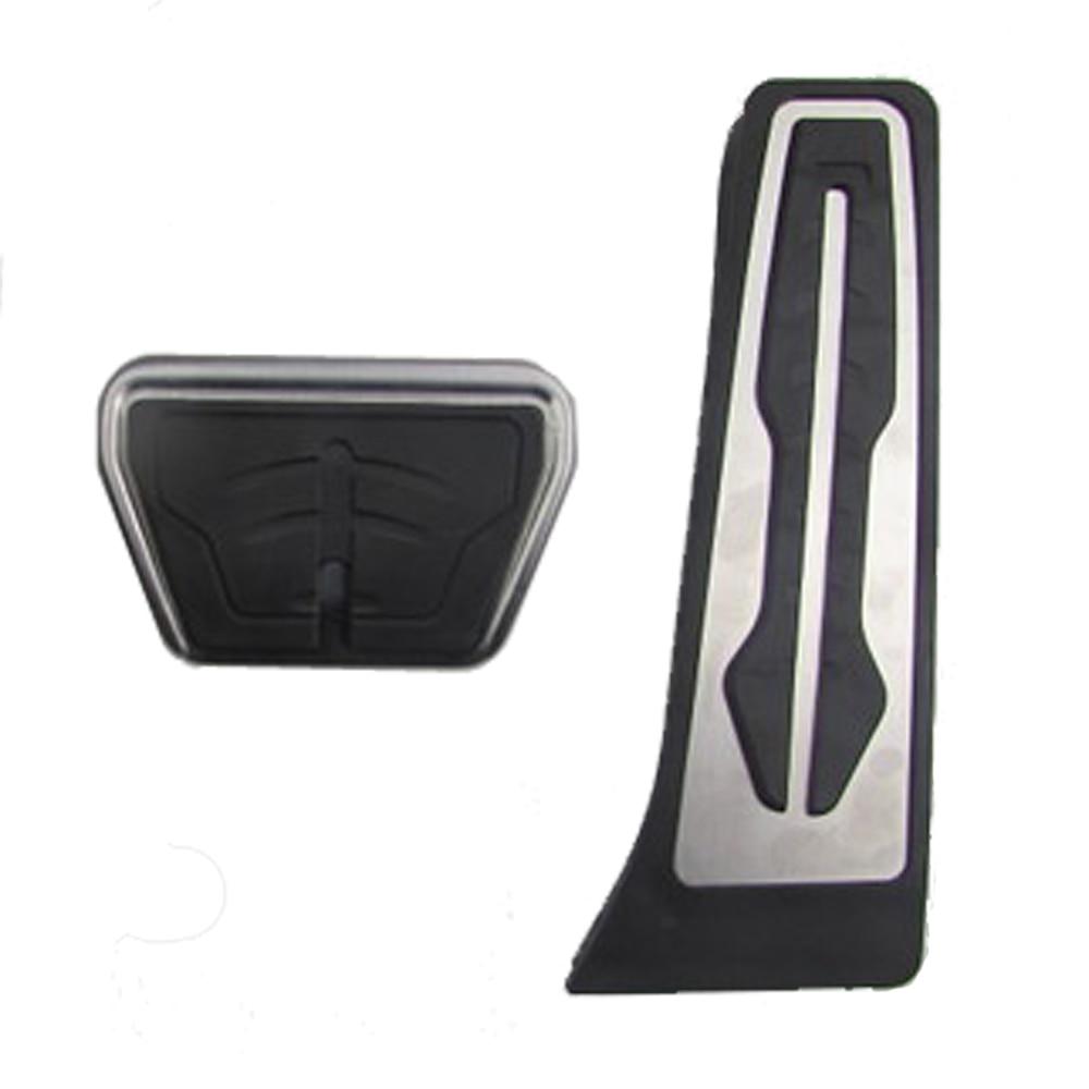 Stainless Steel Auto Fuel Brake Footrest Pedal set fit X5 X6 E70 E71 E72 F15 F16
