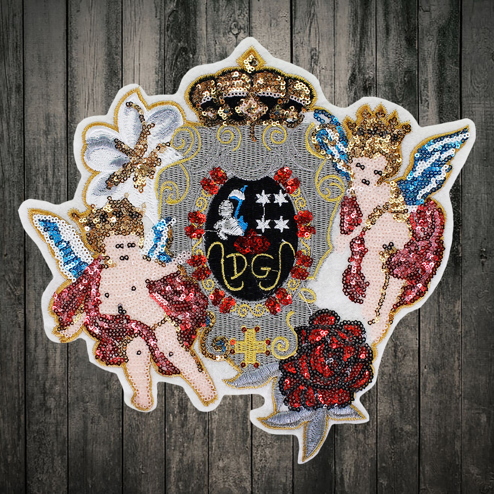1pieces Embroidery sew on Angel patch cloth applique clothing decoration