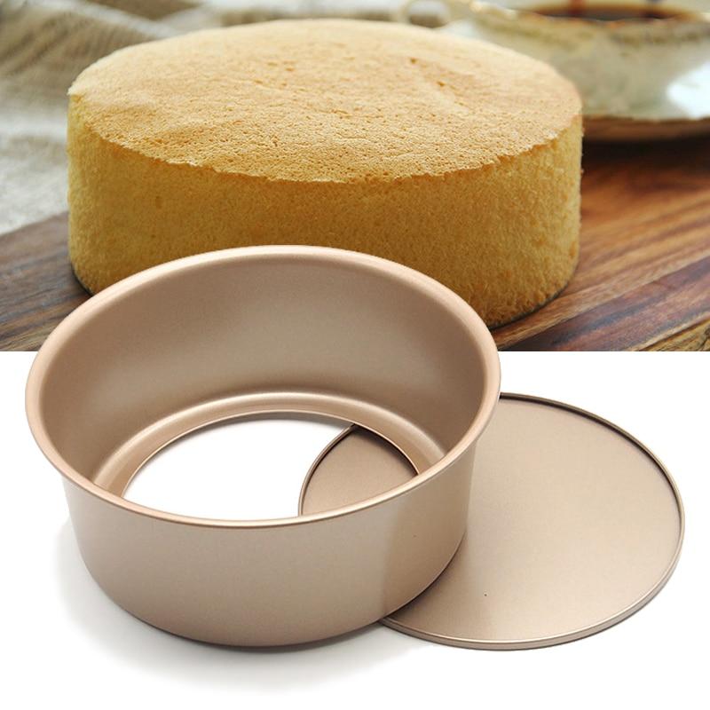 8 & 6-Polegada, bandeja redonda do cheesecake com parte inferior removível, molde do bolo, bakeware antiaderente