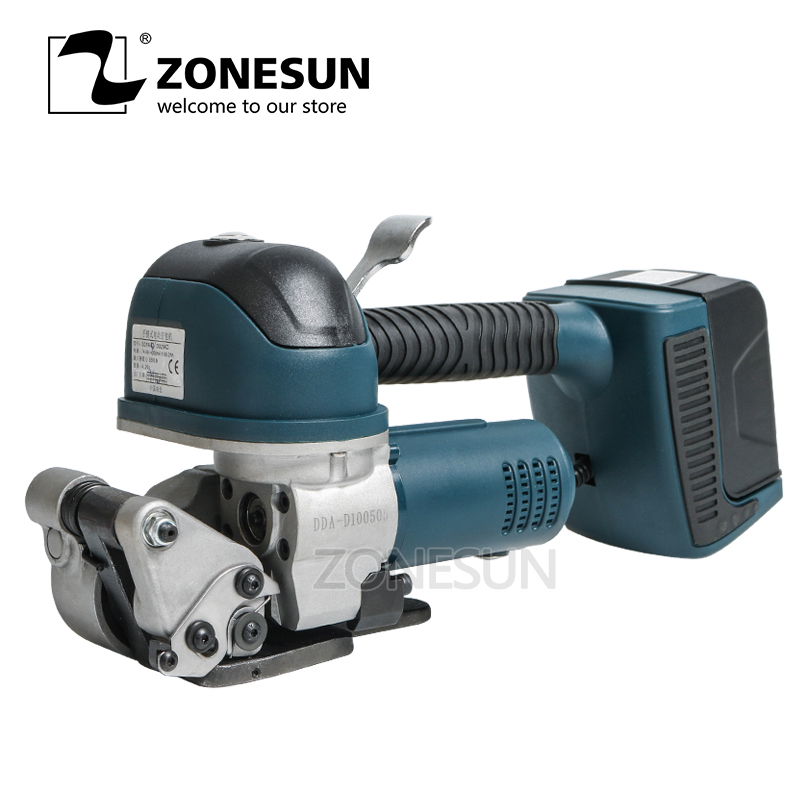 ZONESUN Handheld Electric Balers Automatic Plastic PP PET Belt Box Carton Strapping Machine Free button P Strapping Tools
