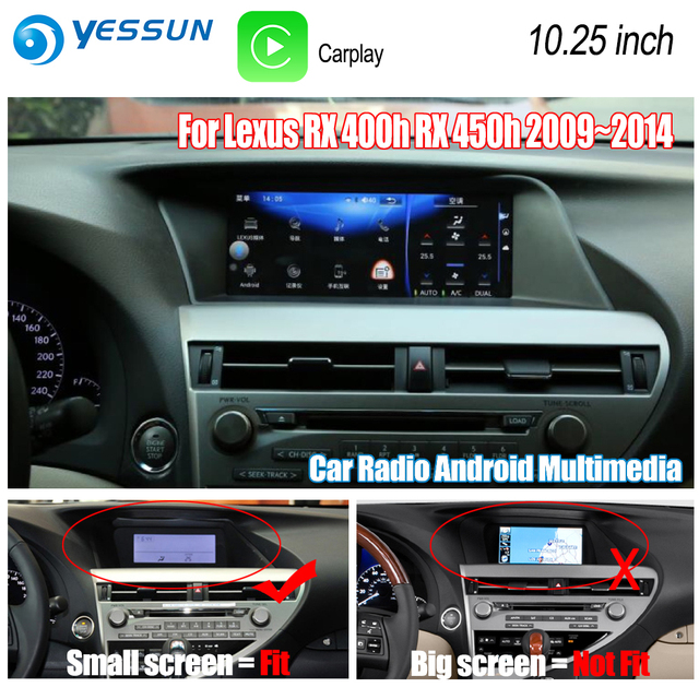 yessun for lexus rx 400h rx 450h 2009~2014 car android carplay gps