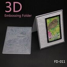 3D Birds Embossing Folders Plastic Scrapbooking For DIY Scrapbook Album Card Decorating Tool Crafts Paper Making Decoratio
